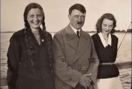 Adolf Hitler and his half-sister, Angela Raubal