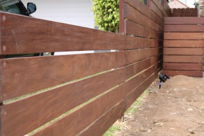 Ipe Horizontal Fence