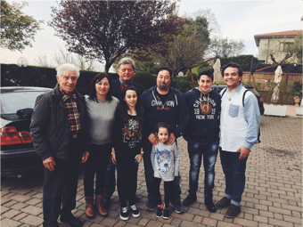 Me (on the right side) with some of my Italian family