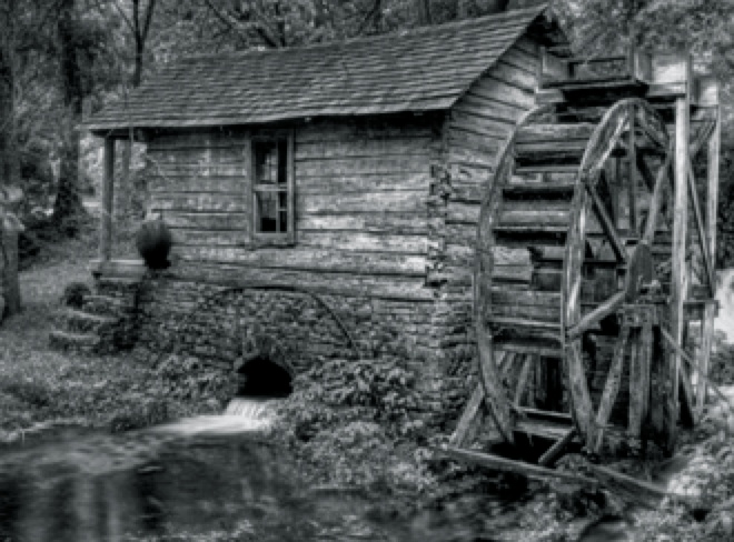This is a mill similar to what Akins might have built.