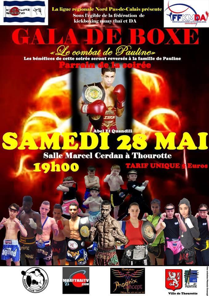 Gala «Le combat de Pauline» à Thourotte le 28 mai 2016