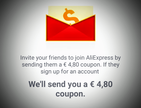 I'm addicted to shopping on AliExpress! Wanna join me? Here's a € 4,80 coupon.