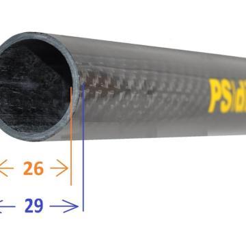 Tubo Carbono Redondo Ps Dive