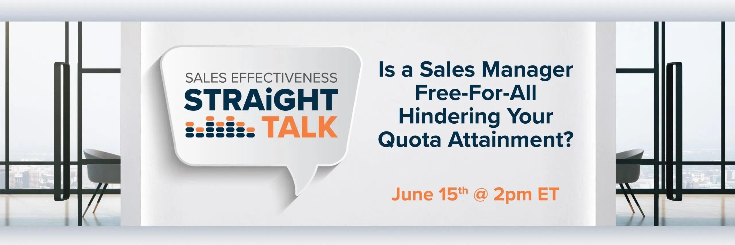 sales effectiveness straight talk