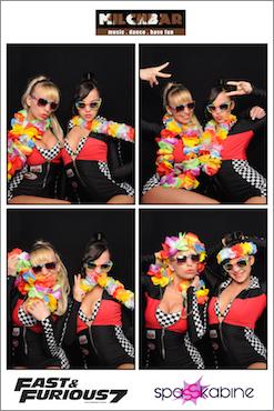 Fast 7 Spasskabine fotoaction gogo girls