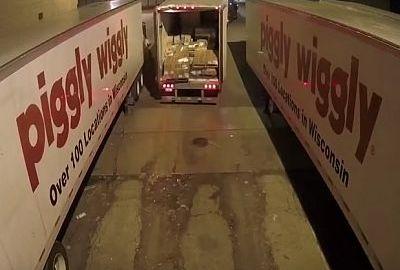 Wie man mit einem LKW rangiert – nicht!