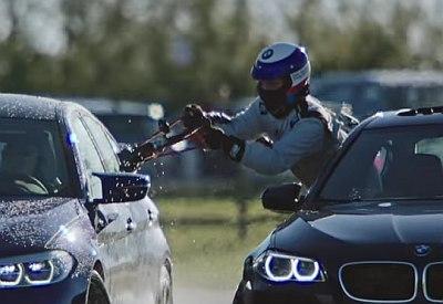 Betankung während des Weltrekord-Drifts bei BMW