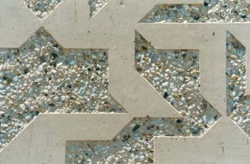 Sand blasting concrete