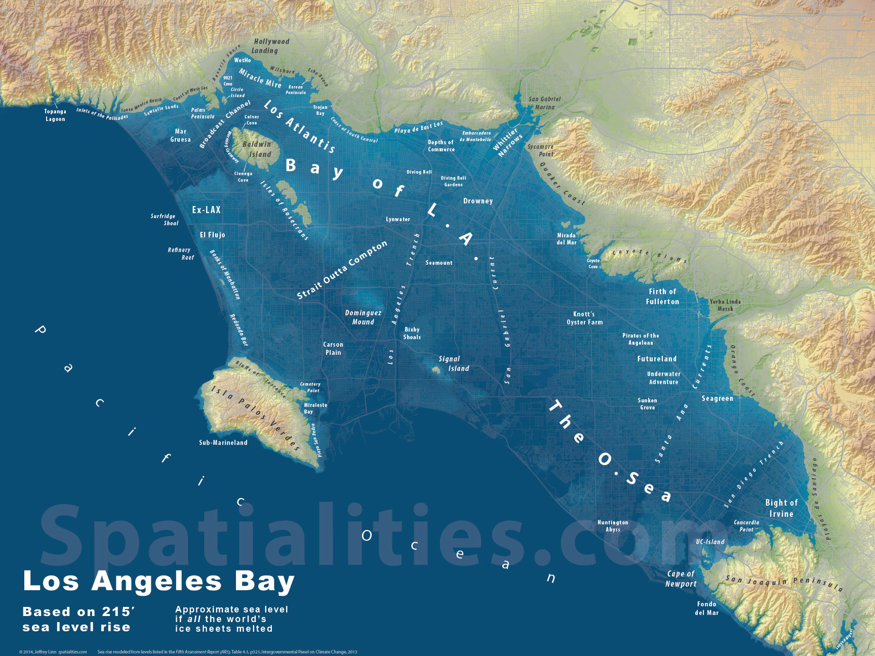 Bay Of LA Spatialities - How to check sea level
