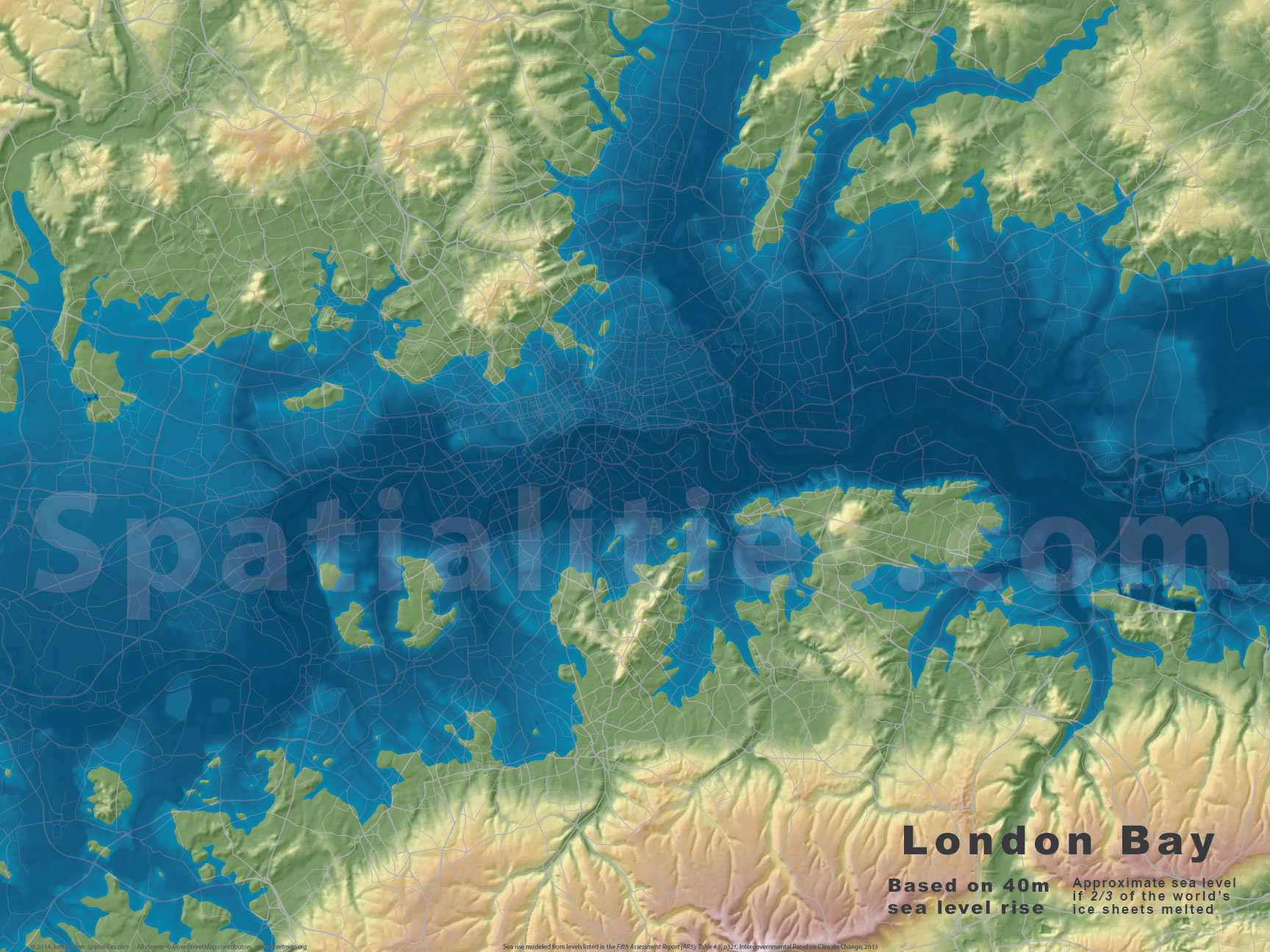 Sea Level Rise Maps Spatialities - Rising oceans map