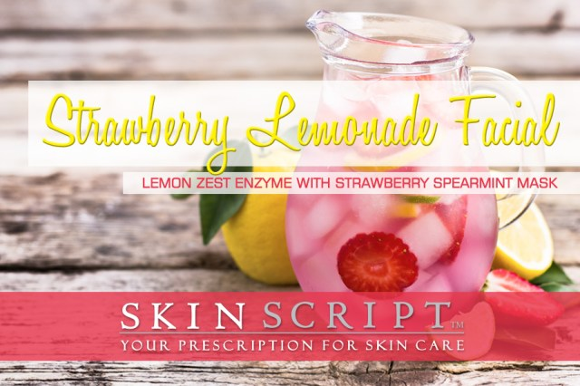 May's Strawberry Lemonade Facial is sure to capture the spirit of spring and delight your senses. It's great for skin in need of anti-aging benefits.