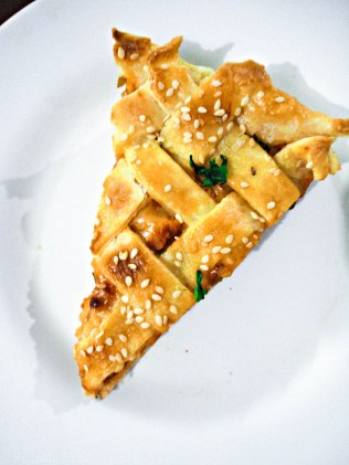 Italian Pirazo Pie; a twist on the classic meat pie.