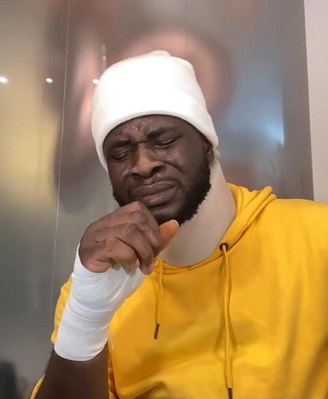 """""""Somebody died in this accident, I already accepted my fate but God said No"""" – Craze Clown breaks down in tears following car crash (Video)"""