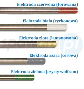 Spawanie TIG - elektrody