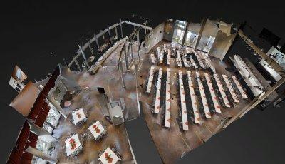 Stadthalle Soest – Großer Saal für Tagungen mit parlamentarischer Bestuhlung 3D Model