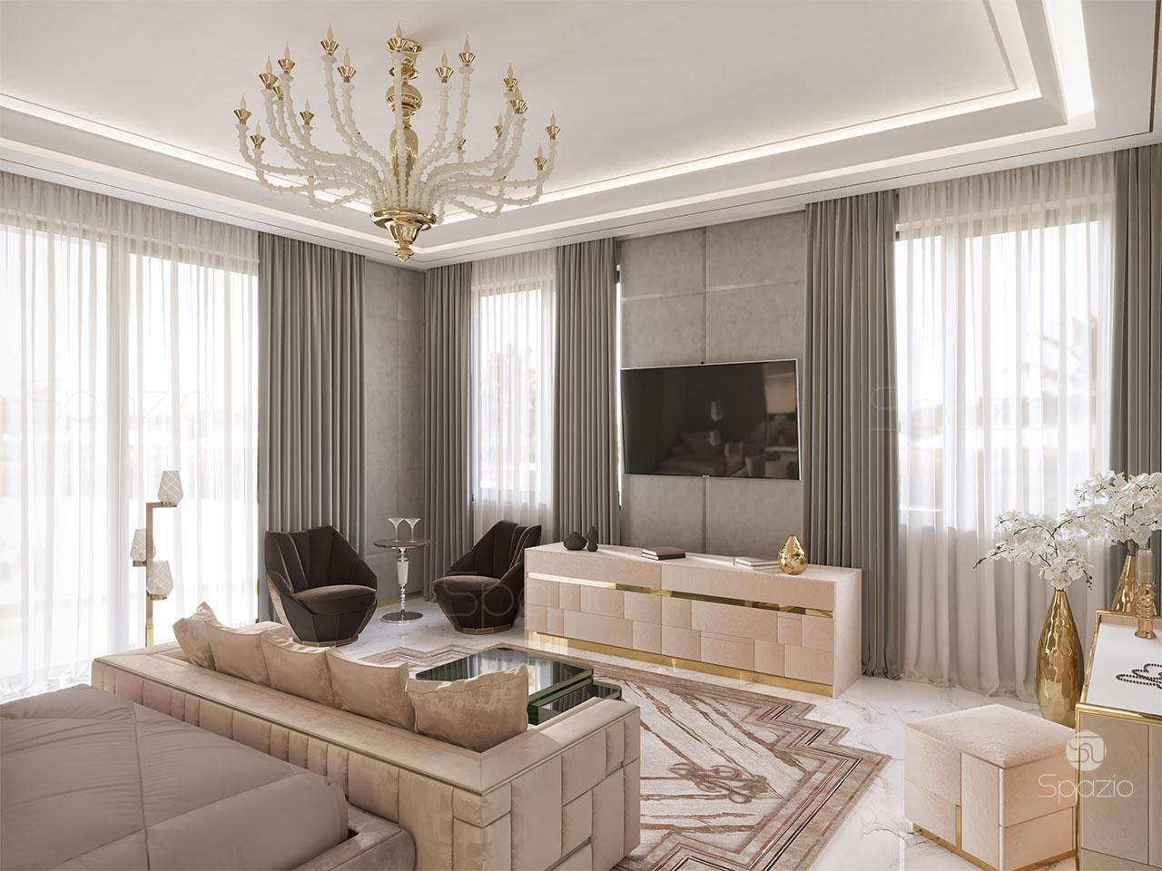 Luxury Master bedroom interior design in Dubai | 2020 | Spazio on Luxury Master Bedroom  id=31958