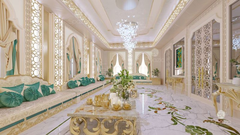 Luxury Majlis Interior Design Concept Was Created In 2017 Year For The Arab Family
