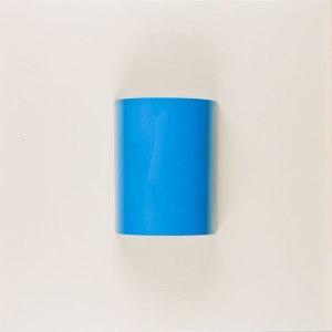 Untitled 08 azure - 50X50 - Tela + lamiera su telaio - Vernice ad olio monocromatico - 2010