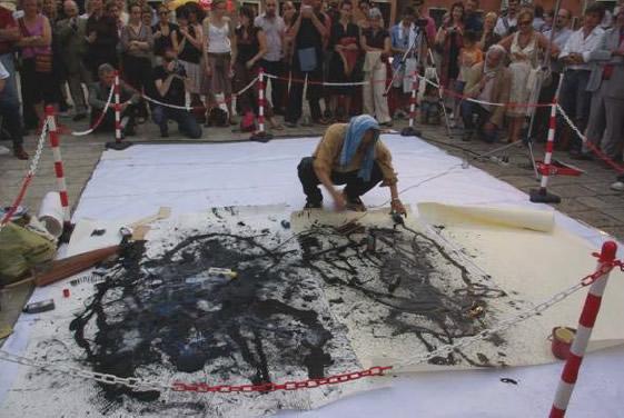 Performance Yasuo Sumi presso lo Spazio Arte dei Mori