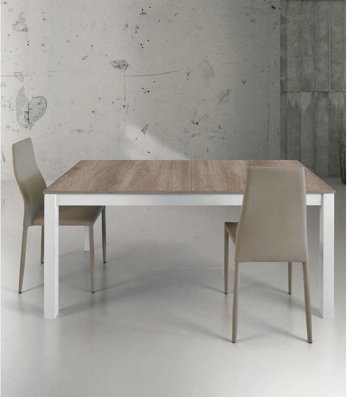 Sedia operativa post di luxy: Tavolo Moderno Bianco E Rovere Con Allunghe Centrali Spazio Casa
