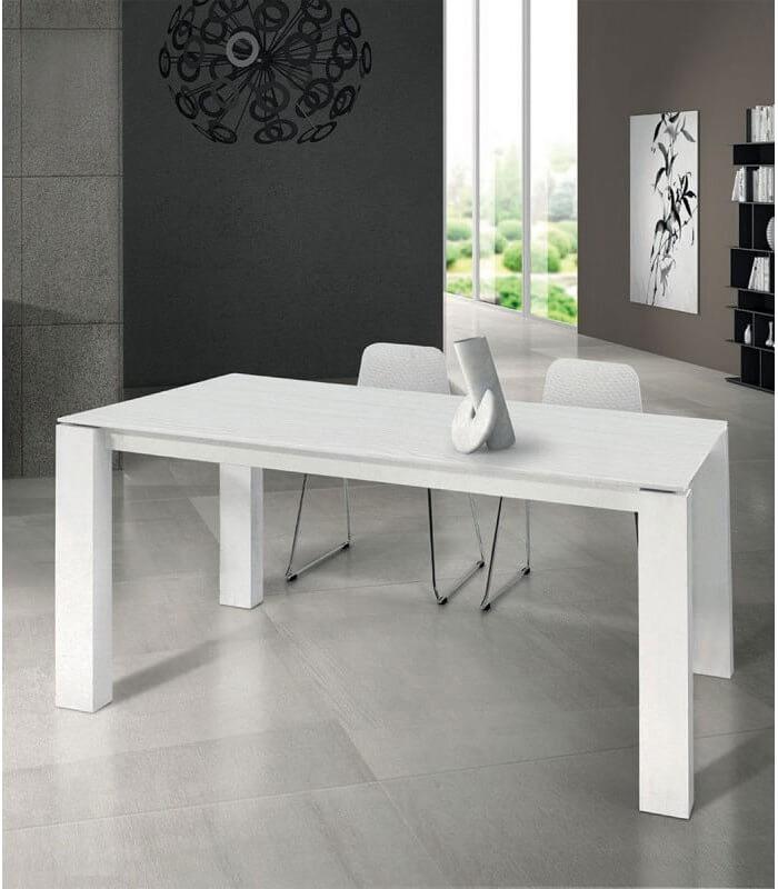 Le gambe, con design esclusivo ad incastro nel top, sono. Tavolo Legno Design Moderno Bianco Spazio Casa
