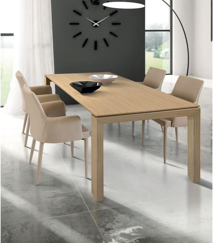 Tra le sedie e poltrone per ufficio sullo shop di pozzoli trovi: Tavolo Design Moderno In Legno Rovere Chiaro Spazio Casa