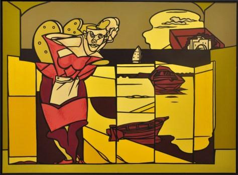 Valerio Adami folding-screen-2008-acrilici-su-tela-98x130-cm