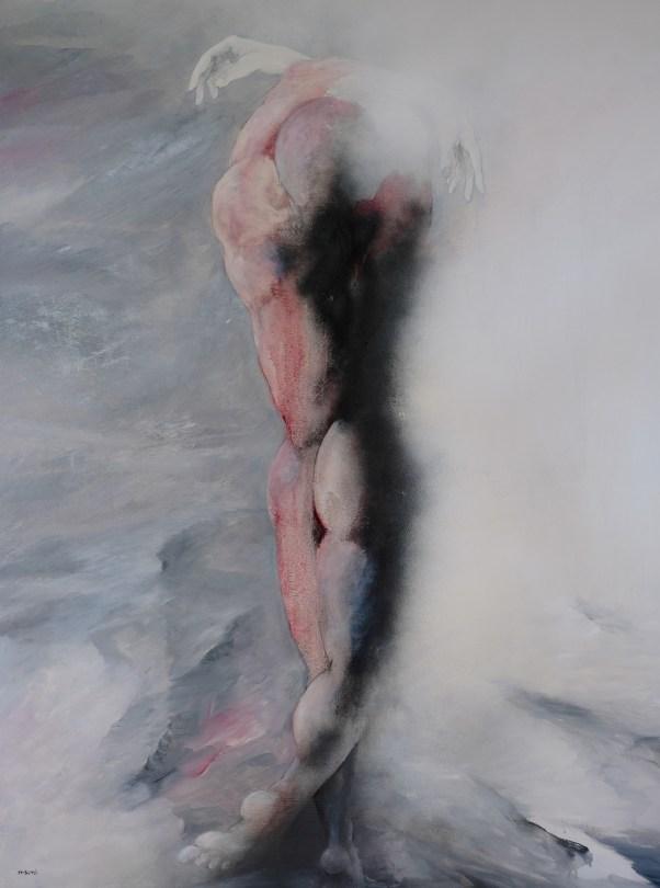 CARLO FRISARDI Rigenerazione 2016 olio su tavola cm 125x98