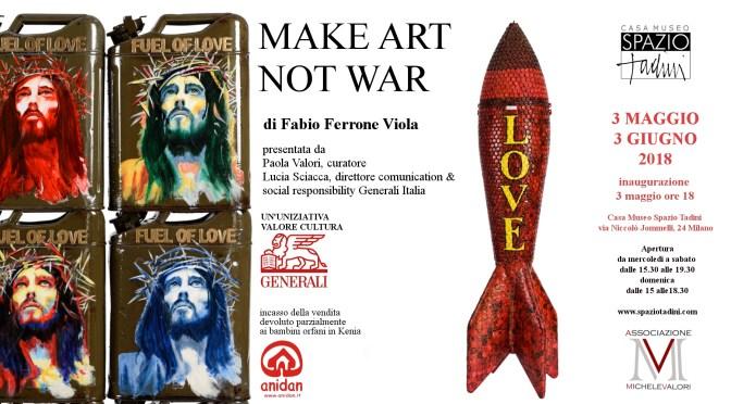 Make art not war : Fabio Ferrone Viola
