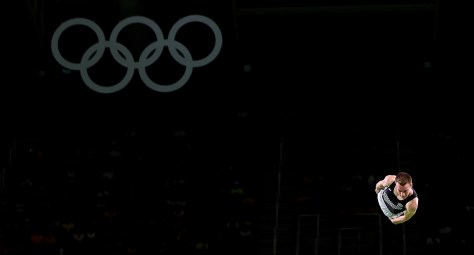 Rio 2016 Olympic games, Men's trampoline Gymnastics. August 2016. photo by Alessandro Trovati Pentaphoto Mate Images