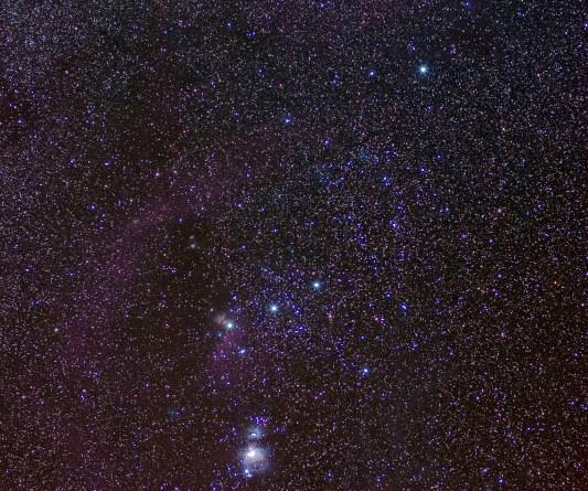 La costellazione di Orione nella sua interezza
