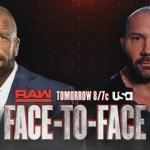 WWE: Batista e Triple H saranno faccia a faccia a Raw
