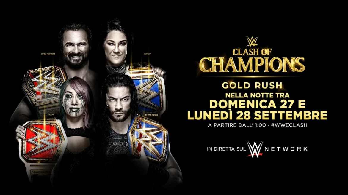 WWE: Risultati Clash of Champions 2020