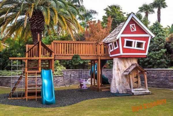Детская площадка своими руками фото на даче – Детская ...