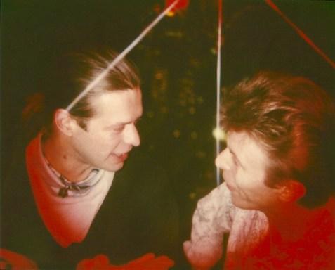 Boris with David Bowie, New York