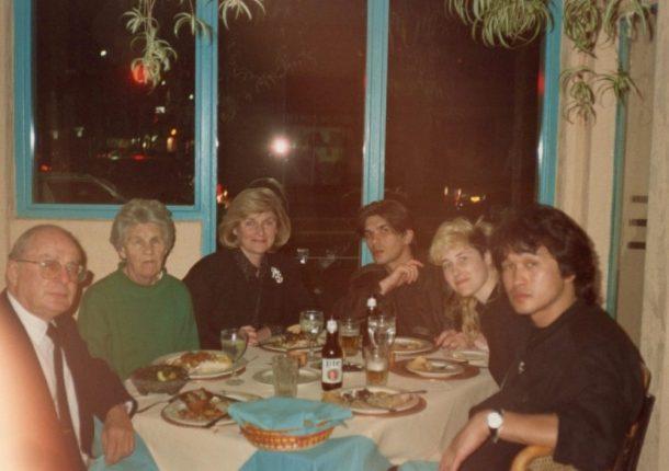 Malibu restaurant with Joanna's parents and grandmother