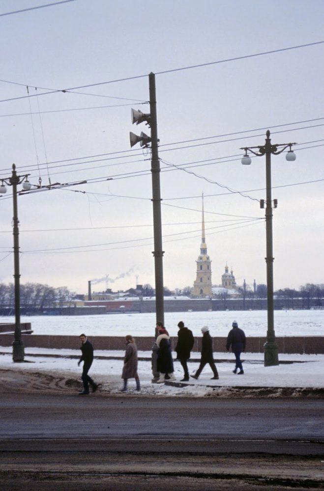 Петропавловский собор от Стрелки Васильевского острова