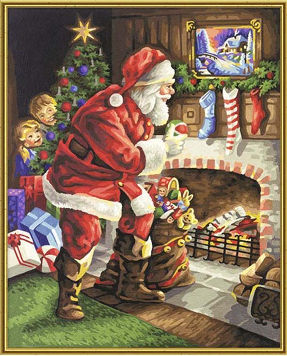 Картина по номерам «Санта у камина» 9300696 Schipper ...