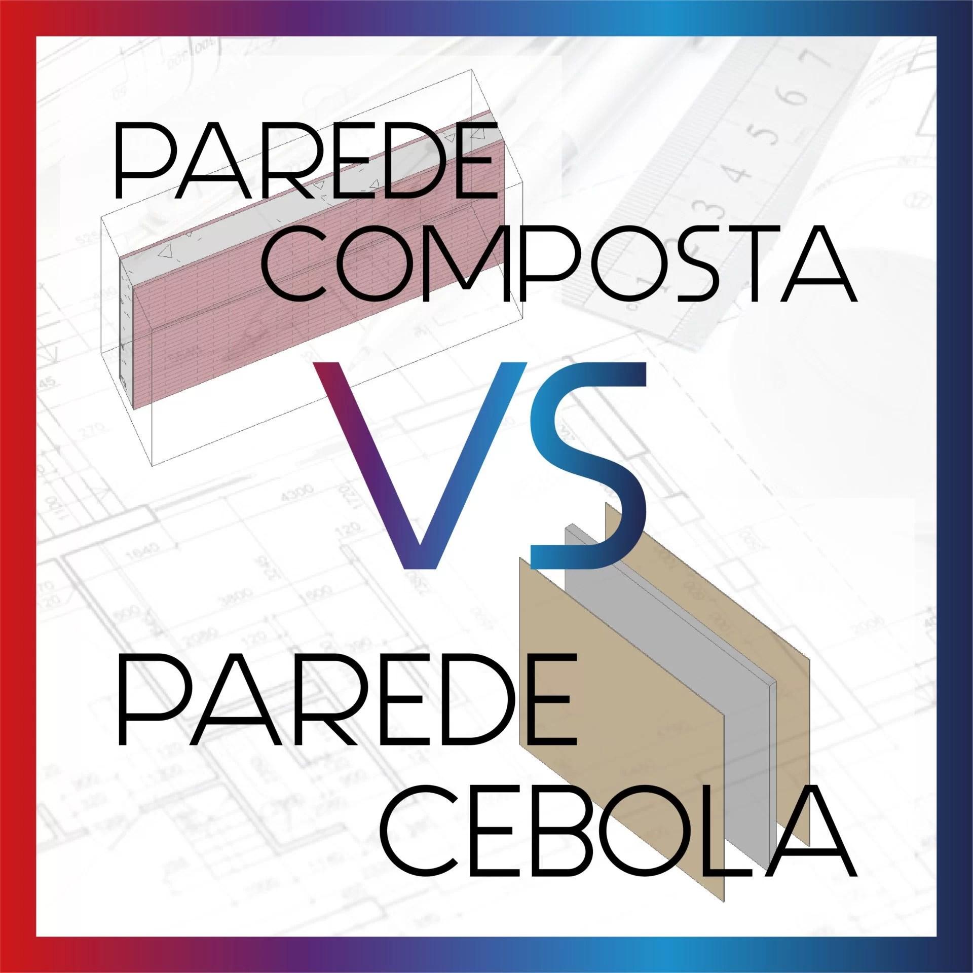 Parede Composta vs Parede Cebola