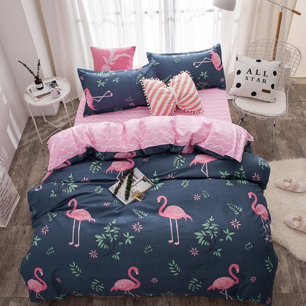 Pink Flamingo Bedding Set