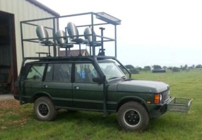 Range Rover Hunting Vehicle - Image : bringatraile.com