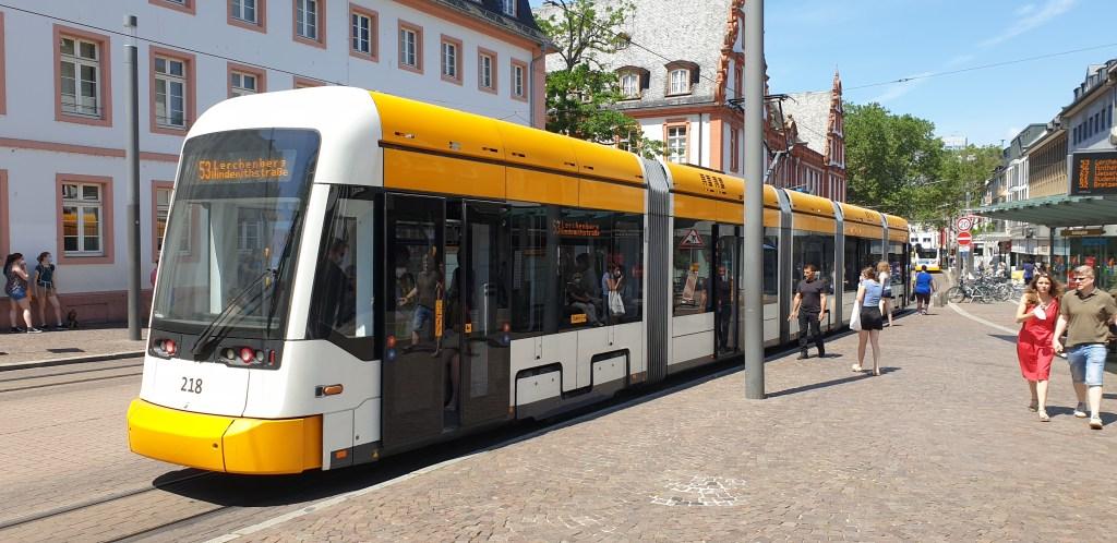 Mobilität; Straßenbahn in Mainz
