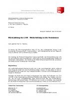 Rückzahlung des LVR – Weiterleitung an die Kommunen