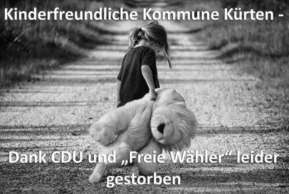 CDU und FW beerdigen Kürten als kinderfreundliche Kommune