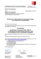 Einladung – Tagesordnung – Geschäftsordnung – Anfahrtsbeschreibung – Delegiertenschlüssel