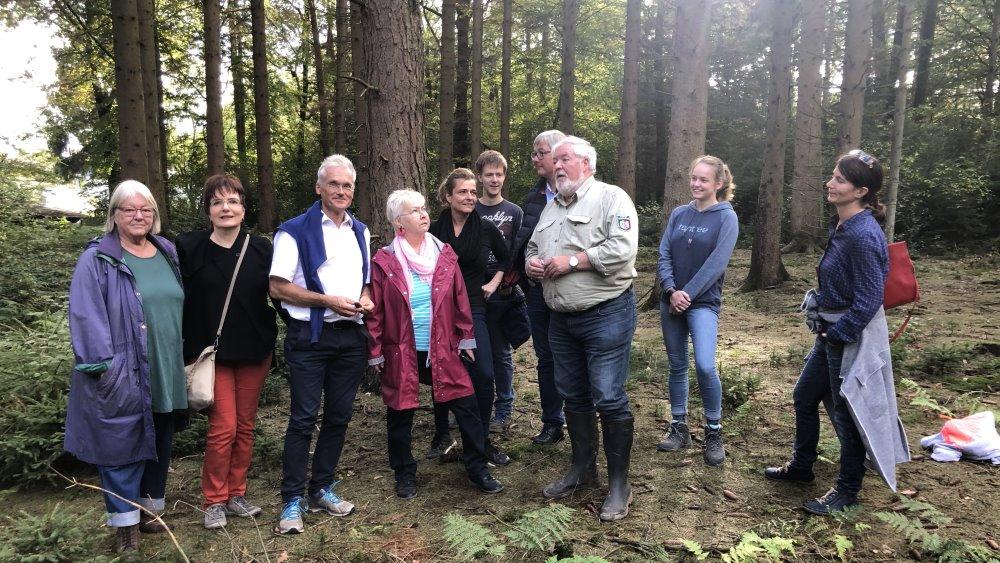 SPD informierte sich über den Zustand der bergischen Wälder