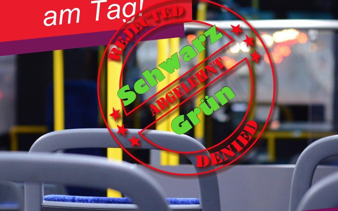 CDU und Grüne lehnen 365€-Ticket ab