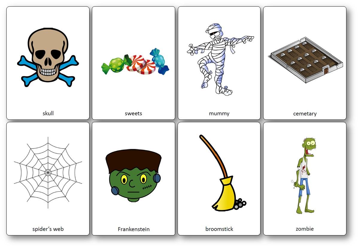 Flashcards Sur Le Thème D'Halloween En Anglais