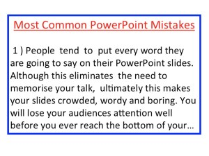 PowerPoint Slide with Crammed Text
