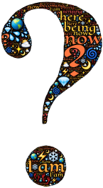 Ornate and Colourful Question Mark